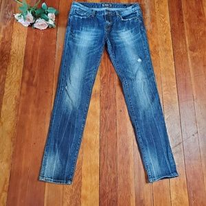 🔥 ReRock Express Skinny Jeans Distressed Size 10